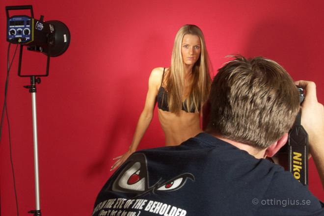 Bakom kameran modellfotografering