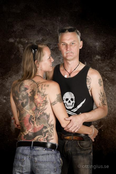 Portratt foto bilder tuffa tatueringar