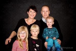 Familjebild tagen i studio, Göteborg