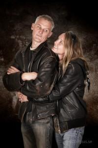 Parfotografering på ett tufft par