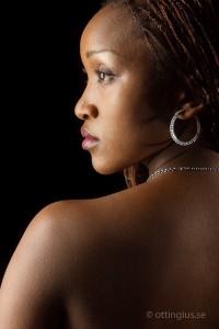 Profilbild tagen i porträttstudio