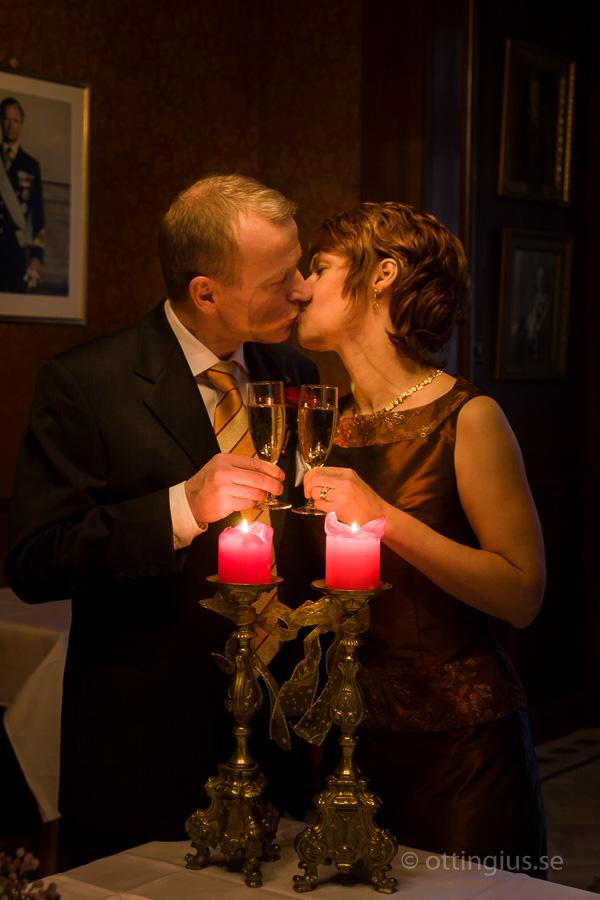 Brudskålen under bröllopsfesten på Odd Fellow festvåning i Göteborg