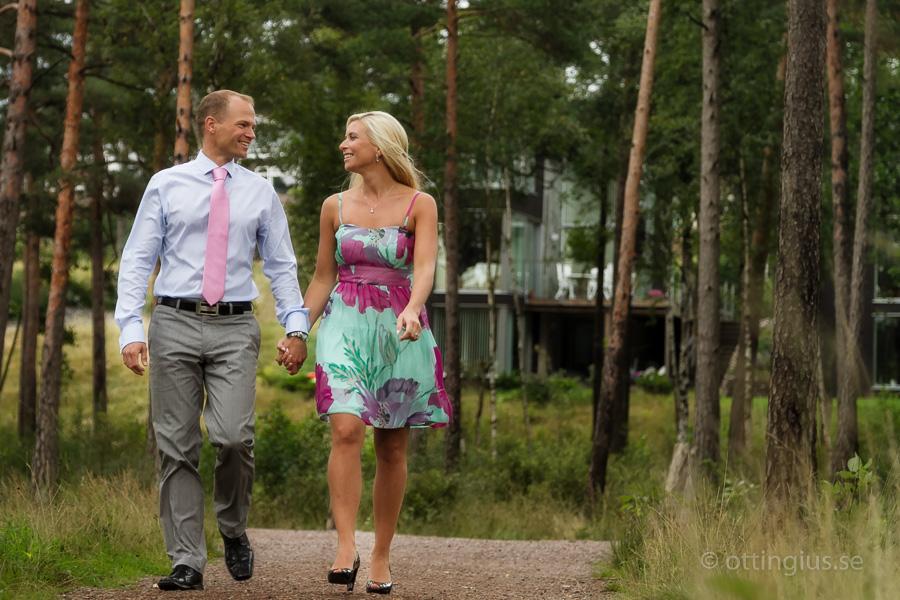 Bröllopsfotografering vid Örtjärn i Mölnlycke