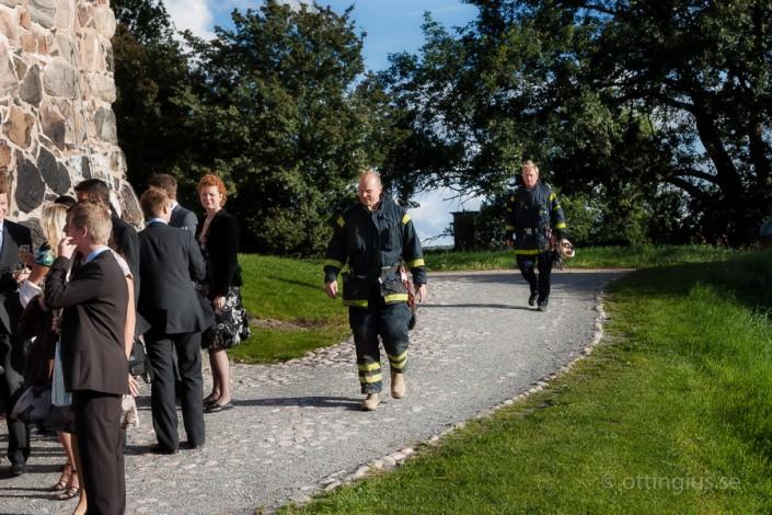 Avbruten bröllopsfest på Skansen Kronan när brandlarmet går i köket