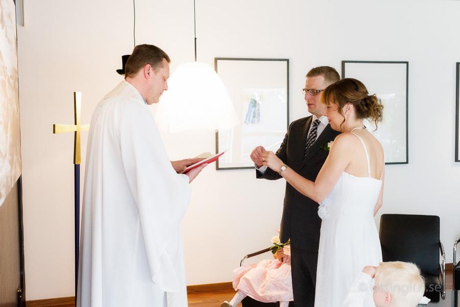 Vigsel och bröllop i VIP rummet på Landvetter flygplats