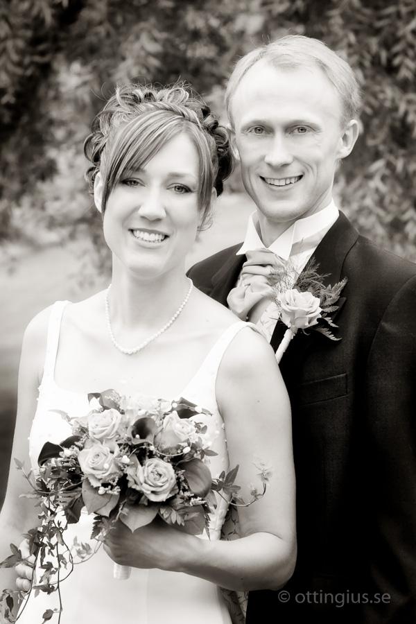 Klassiskt svartvitt bröllopsfoto