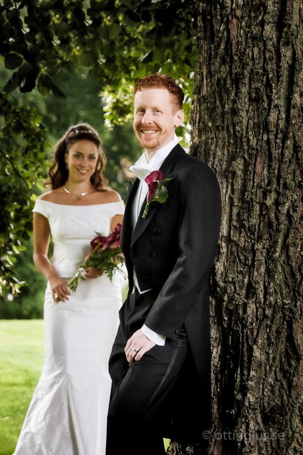 Bröllopsfotografering vid Bjertorp Slott