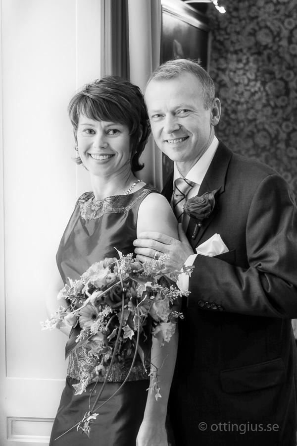 Vinterbröllop med bröllopsbilderna tagna inomhus