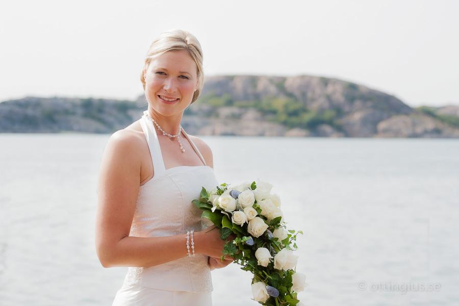 Bröllopsfoto i skärgårdsmiljö
