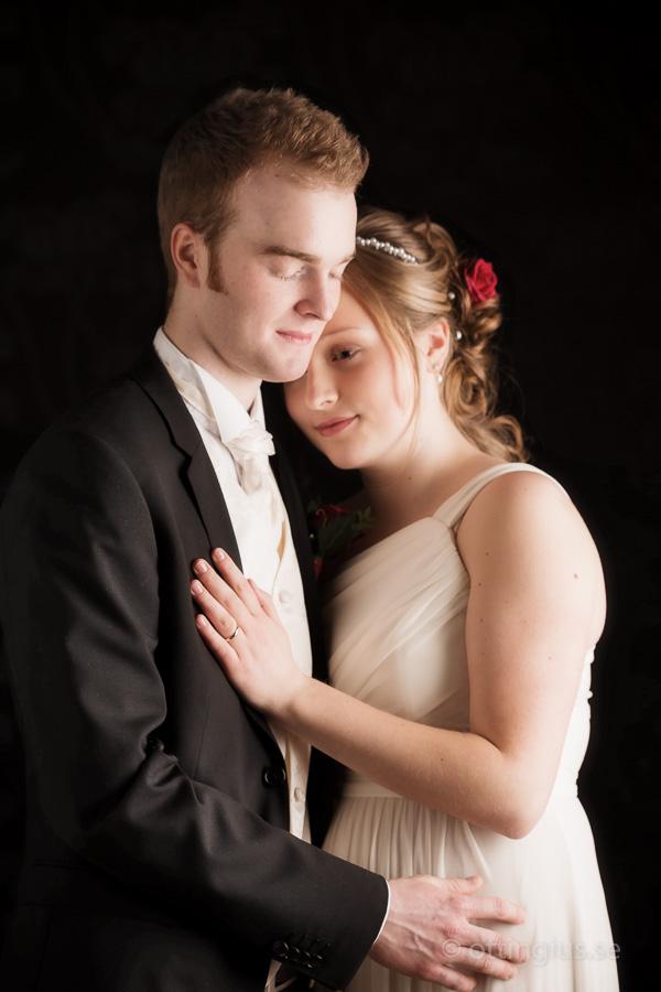 Bröllopsfotografering i studion