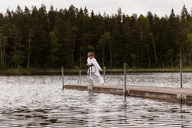 Modellfotografering och ju-jutsu bilder Göteborg