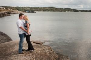 Parfotografering ute vid kusten