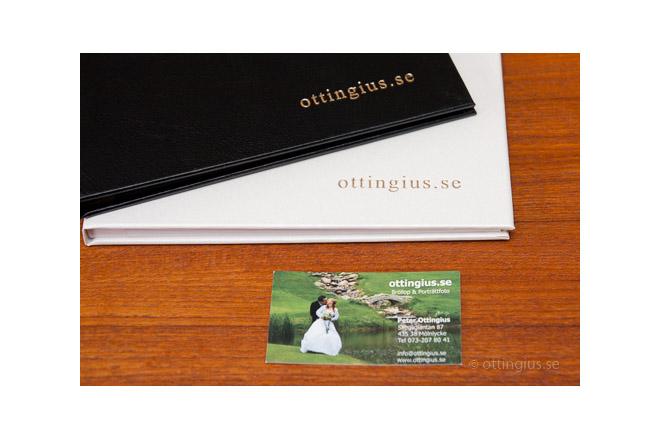 Porträttalbum och visitkort som porträttfotograf