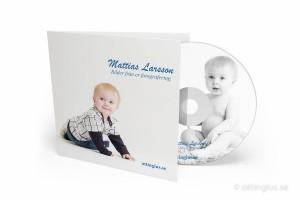 cd-skiva med barnbilder