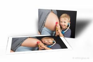 Förstoring av en gravidbild