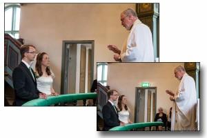 Exempel på retuschering av bröllopsbild