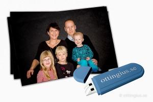 Porträttbilder på USB