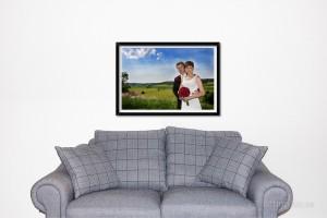 väggforstoring bröllopsfoto