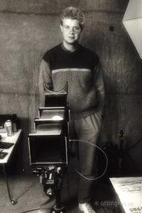 Självporträtt från fotoskolan, tidigt 80-tal